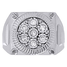 10K White Gold with 0.25ct Diamond Ring Size 10