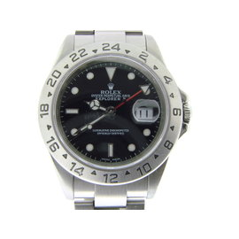Rolex Explorer II Stainless Steel 40mm SEL Oyster Black Dial 16570 Mens Watch