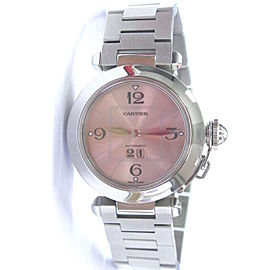 Cartier Pasha Big Date Stainless Steel Automatic Pink Dial 35mm Watch