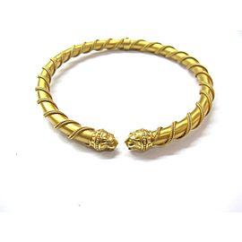18K Yellow Gold Lions Head Choker Necklace