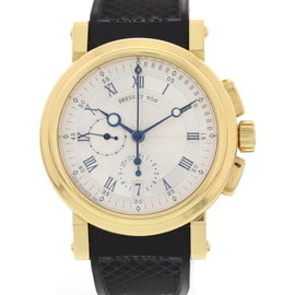 Breguet 950 Marine 5827 Chonograph 18K Yellow Gold Mens Watch