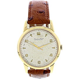 IWC 18K Yellow Gold Mens Watch