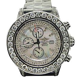 Breitling Super Avenger 1 A13370 Stainless Steel with 22.55ct Diamond 52mm Mens Watch