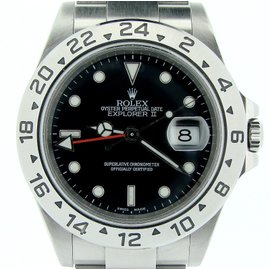 Rolex Explorer II 16570T Stainless Steel With Black Dial Mens Watch