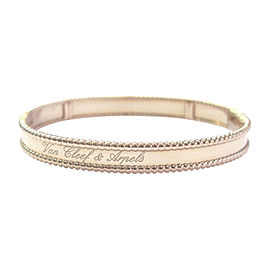 Van Cleef & Arpels 18K Rose Gold Perlee Signature Bracelet