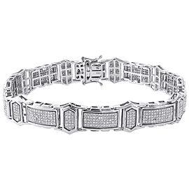 10K White Gold 2.08ct Diamond Statement Bracelet Bangle