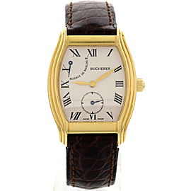 Bucherer Archimedes Reserve De Marche 18K Yellow Gold Hand Winding Mens Watch