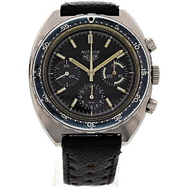 Heuer Autavia 73663 Stainless Steel & Leather 42mm Watch
