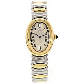 Cartier Baignoire 3485 18K Yellow Gold & Stainless Steel 22mm Watch