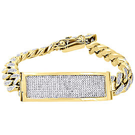 10K Yellow Gold 4.57ct Diamond Cuban Link Bracelet