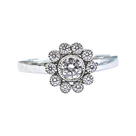 Tiffany & Co. Platinum Flower 0.40 Ct Diamond Ring