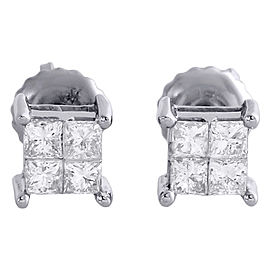 14K White Gold with 0.50 ct Diamond Studs Mini Earrings