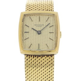 Patek Phillippe Mechanical 18K Yellow Gold Vintage 19mm Womens Watch