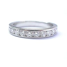 Tiffany & Co. Platinum .90ct Diamond Half Circle Band Ring Size 9.5