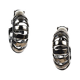 Oscar de la Renta Silver Tone Metal Earrings