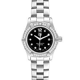 TAG Heuer Aquaracer Black Dial Diamond Steel Ladies Watch WAF141D