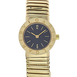 Bulgari Tubogas BB 23 2T 18K Yellow Gold Quartz 23mm Womens Watch