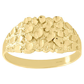 10K Yellow Gold Nugget Style Band Ring Size 11