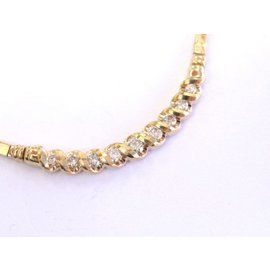 Yellow Gold Diamond Womens Necklace