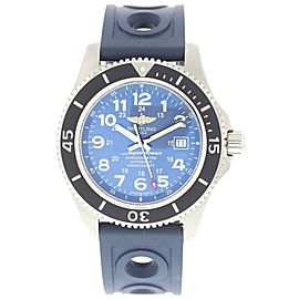 Breitling Superocean II A17392 Stainless Steel & Rubber Blue Dial Automatic 44mm Mens Watch