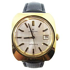 Hamilton Date Yellow Gold Automatic 38.6mm Mens Watch c.1970s