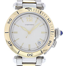 Cartier Pasha 1034 Yellow Gold & Stainless Steel Automatic 36mm Unisex Watch
