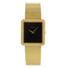 Piaget 9154 18K Yellow Gold Manual Vintage 25mm Unisex Watch 1970s