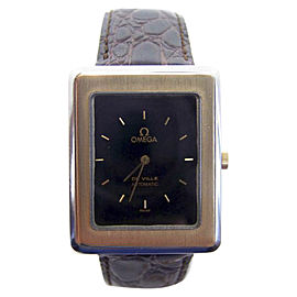Omega De Ville Stainless Steel & 14K Yellow Gold Vintage 29mm Womens Watch