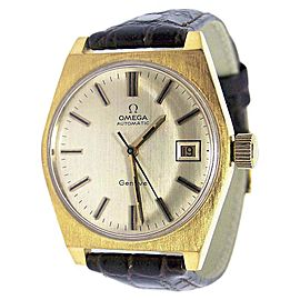 Omega Geneve Stainless Steel / Leather Vintage 35 mm Mens Watch