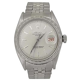 Rolex Datejust 1065 Stainless Steel Automatic Vintage 36mm Mens Watch 1957