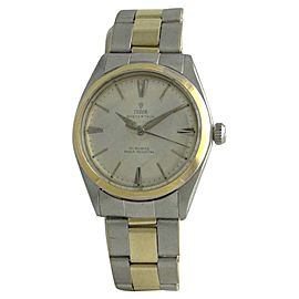 Tudor 7960 14K Yellow Gold & Stainless Steel Manual Vintage 34mm Mens Watch 1960