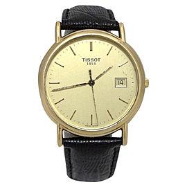 Tissot 18K Yellow Gold / Leather Quartz 33mm Womens Watch