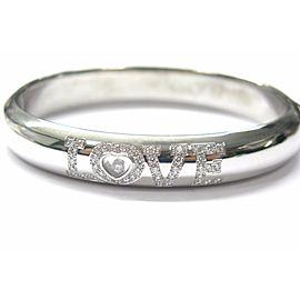 Chopard 18K White Gold Diamond Love Bangle Bracelet