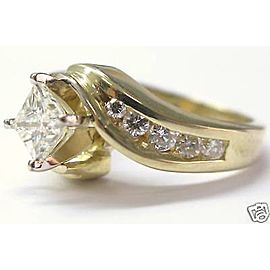 Yellow Gold Diamond Womens Engagement Ring