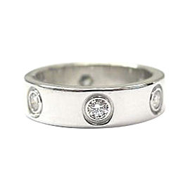 Cartier Love 18K White Gold with Diamond Ring Size 6