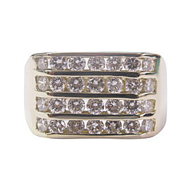 14K Yellow Gold 2.50ct Diamond Ring Size 13