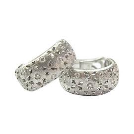 Roberto Coin Granada 18K White Gold & 0.50ct Diamond Huggie Earrings