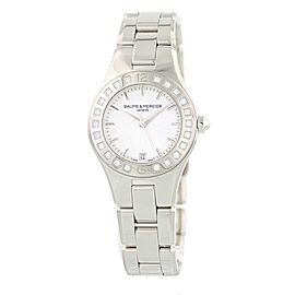 Baume & Mercier MOA10072 Linea MOP Dial Diamond Bezel 32mm Womens Watch