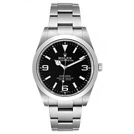 Rolex Explorer I Luminescent Arabic Numerals Steel Mens Watch 214270