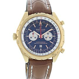 Breitling Chronomatic H41360 18K Rose Gold 44mm Mens Watch