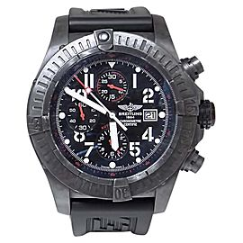 Breitling Super Avenger M13370 Stainless Steel / Rubber Automatic 50mm Mens Watch