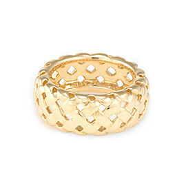 Tiffany & Co. Vannerie 18K Yellow Gold Basket Weave Ring Size 6