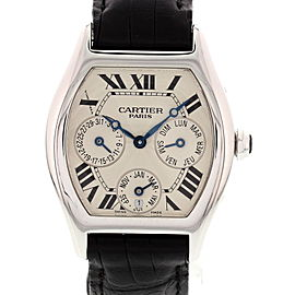 Cartier Tortue 2540 18K White Gold Automatic 34mm Mens Watch
