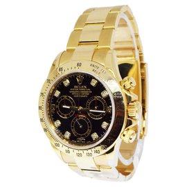 Rolex Daytona 116508 18K Yellow Gold Black Diamond Dial Automatic 40mm Mens Watch