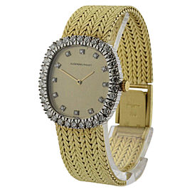 Audemars Piguet Royal Oak 18K Yellow Gold with Diamond Manual Vintage 25mm Womens Watch