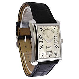 Piaget Emperador Retrograde GAO28072 P10108 18K White Gold Automatic 32mm Mens Watch