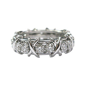 Tiffany & Co. Jean Schlumberger Platinum Diamond Ring Size 6