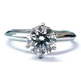 Tiffany & Co. Platinum with 1.28ct Diamond Solitaire Ring Size 5.75