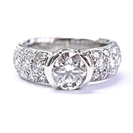 Tiffany & Co. Platinum with 2.04ct Etoile Diamond Ring Size 5