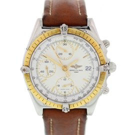 Breitling Chronomat D13048 18K Yellow Gold & Stainless Steel 39mm Mens Watch